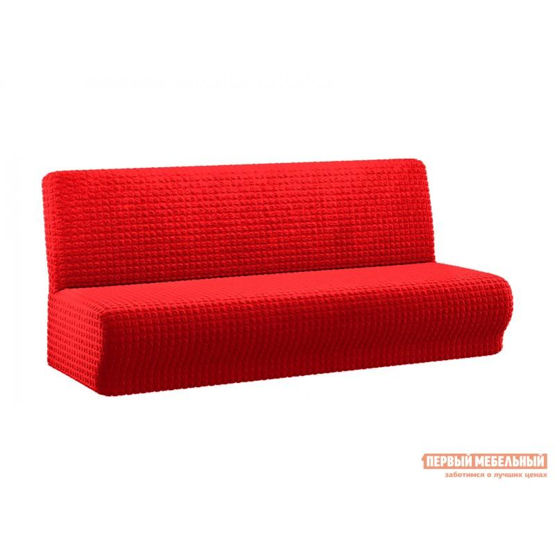 Чехол для мебели  Чехол на трехместный диван без подлокотников  жатка Бордовый, жатка