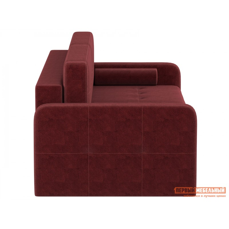 Прямой диван  Диван Буено Люкс Бордо, велюр (фото 2)