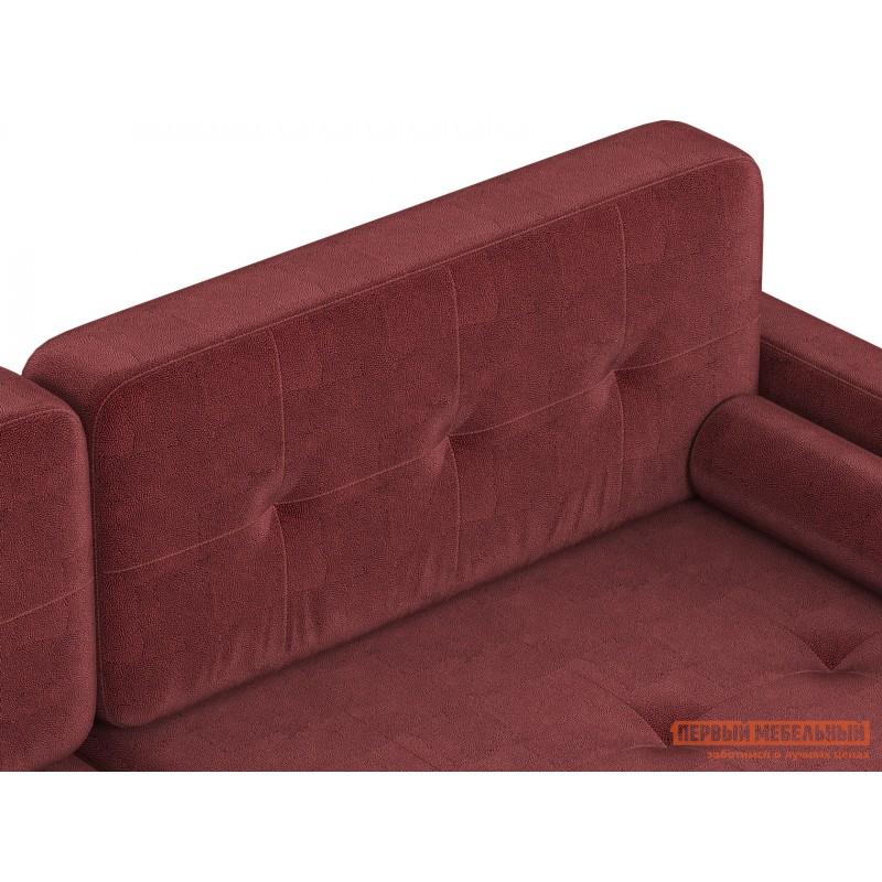 Прямой диван  Диван Буено Люкс Бордо, велюр (фото 4)