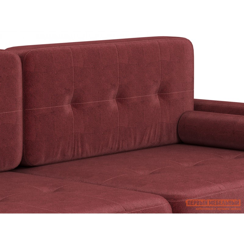 Прямой диван  Диван Буено Люкс Бордо, велюр (фото 7)