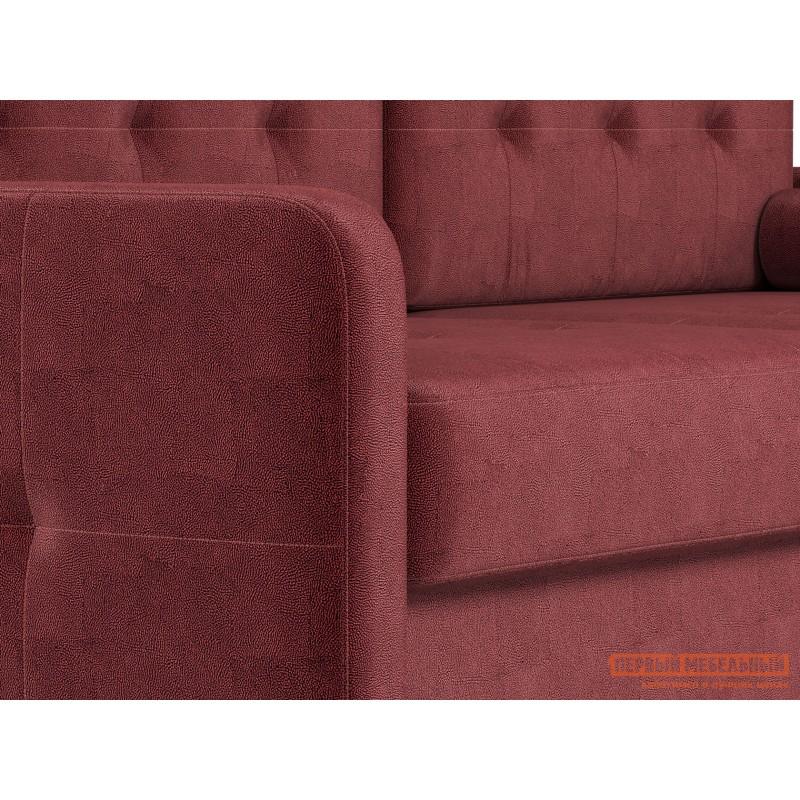 Прямой диван  Диван Буено Люкс Бордо, велюр (фото 8)