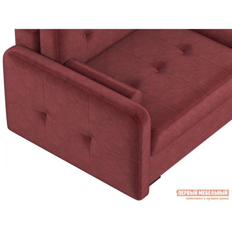 Прямой диван  Диван Буено Люкс Бордо, велюр (фото 9)