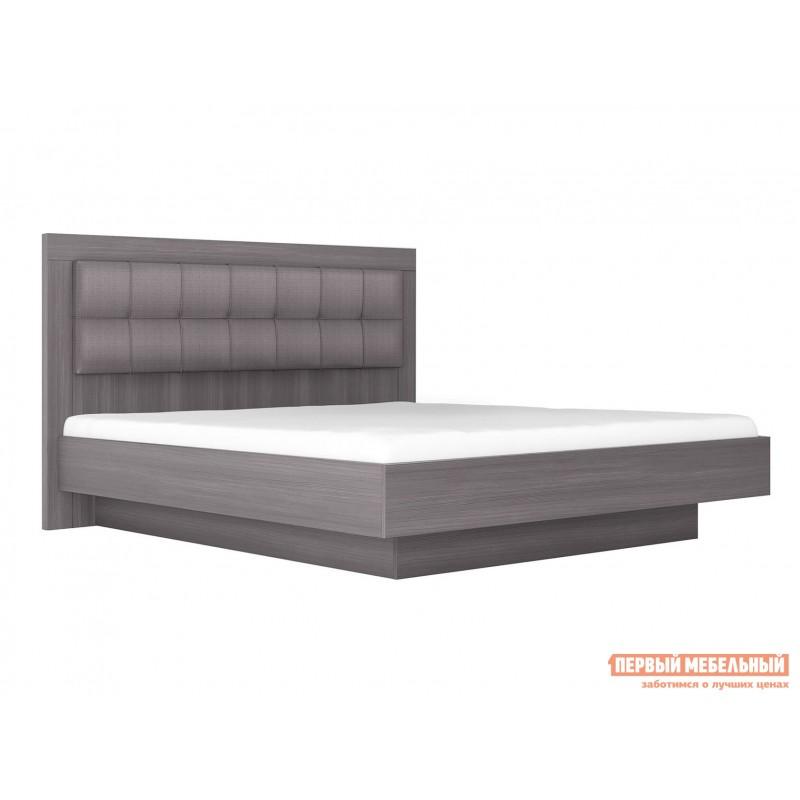 Двуспальная кровать  Кровать с подъемным механизмом Парма НЕО 5 Лиственница темная / Экокожа дила, 1600 Х 2000 мм
