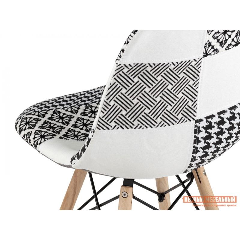Стул  Стул EAMES Y808  Пэчворк черно-белый, шенилл (фото 6)