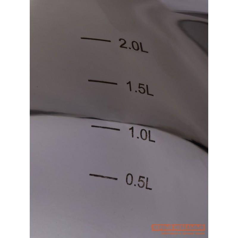 Кастрюля  Ковш с крышкой ICONIC 16х9.5см 2.2л Серебристый (фото 5)