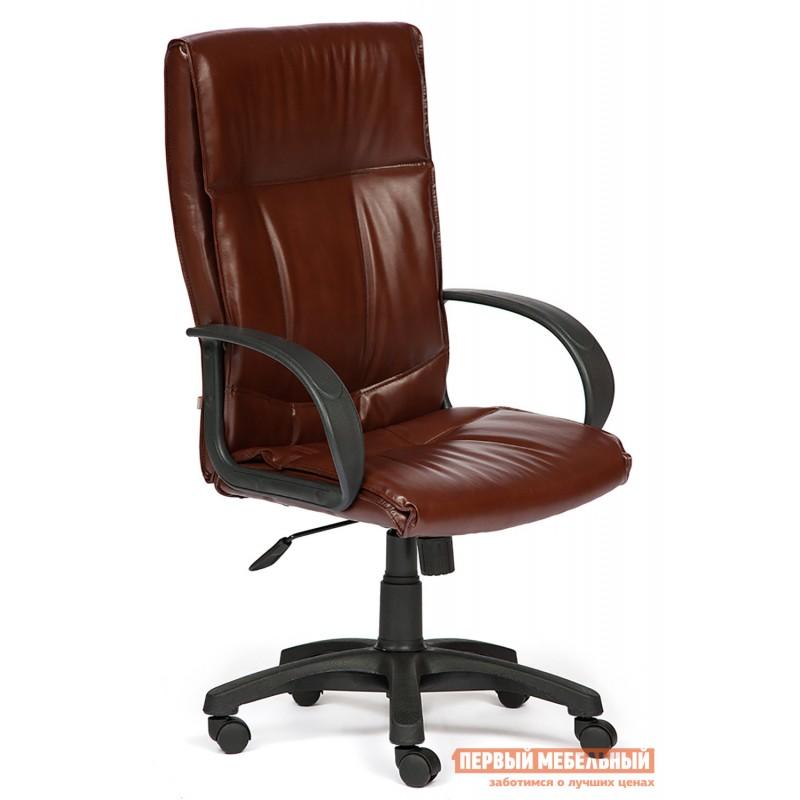 Кресло руководителя  Davos Иск. кожа коричневая 2 TONE