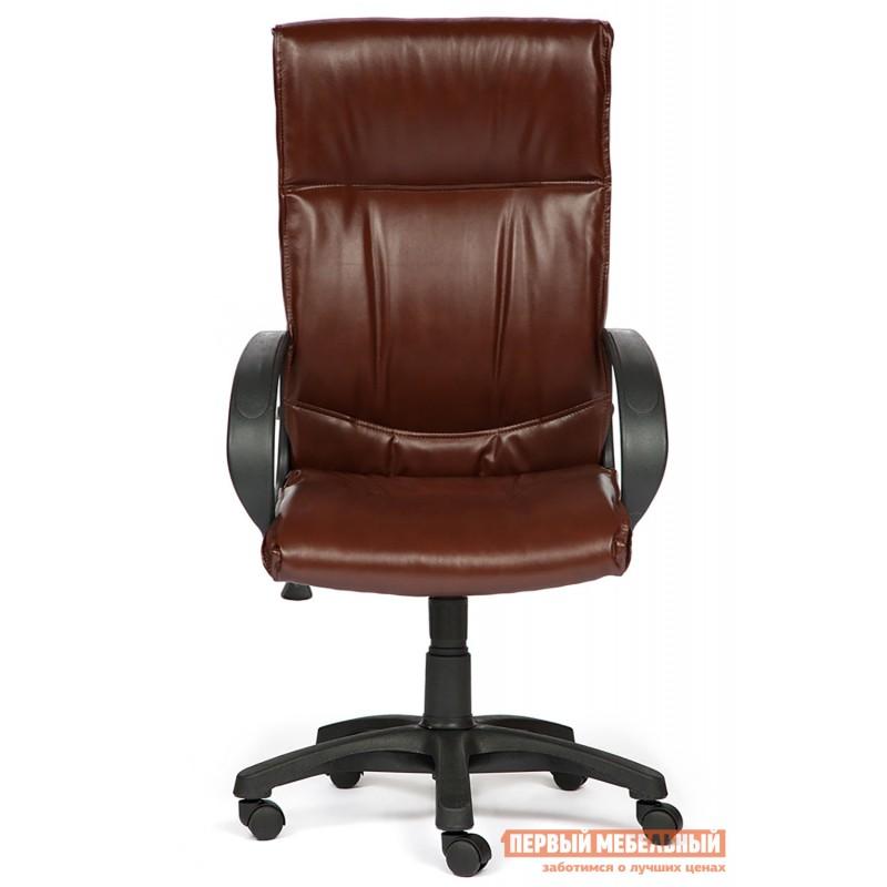Кресло руководителя  Davos Иск. кожа коричневая 2 TONE (фото 2)