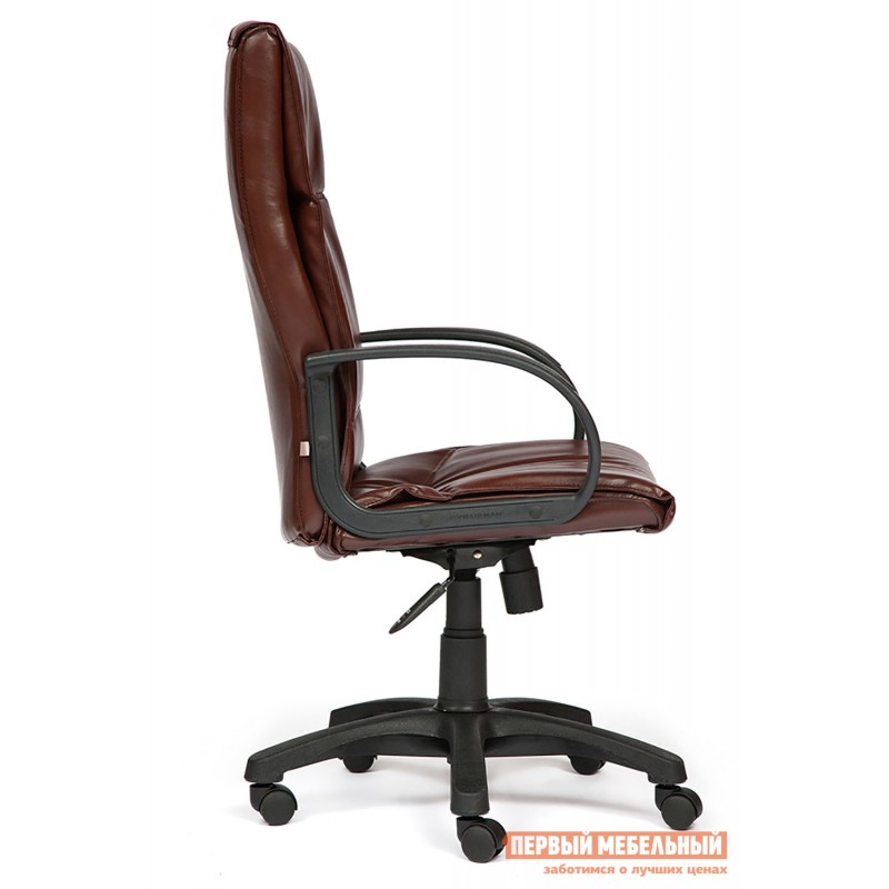 Кресло руководителя  Davos Иск. кожа коричневая 2 TONE (фото 3)
