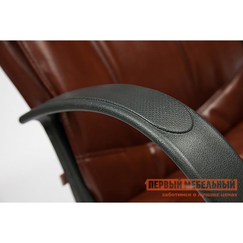Кресло руководителя  Davos Иск. кожа коричневая 2 TONE (фото 4)