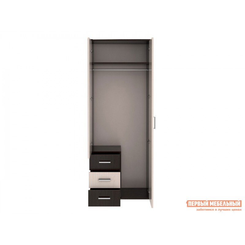 Распашной шкаф  Шкаф Белла 2-дв. Венге / Дуб Атланта (фото 2)