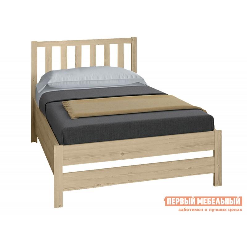 Односпальная кровать  Массив Натуральный, 1200 Х 2000 мм