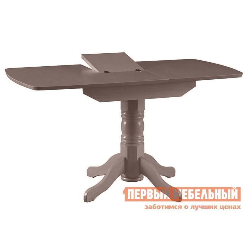 Кухонный стол  Стол обеденный раздвижной овальная крышка массив Капучино
