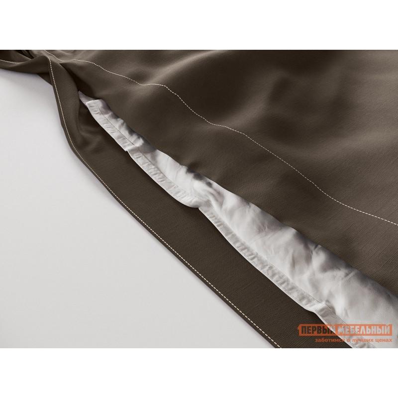 Комплект постельного белья  КПБ сатин однотонный (шоколад ОСНОВА СНОВ) Шоколадный, сатин, Полутороспальный (фото 3)