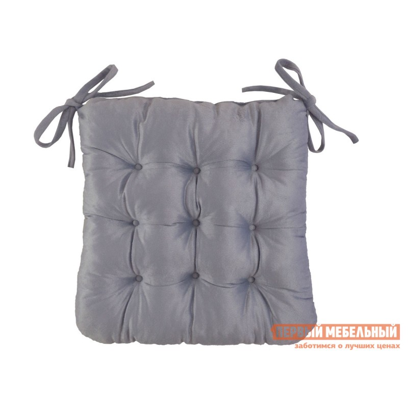 Декоративная подушка  Сидушка завязками (светло-лиловая Linenway) Лиловый, велюр