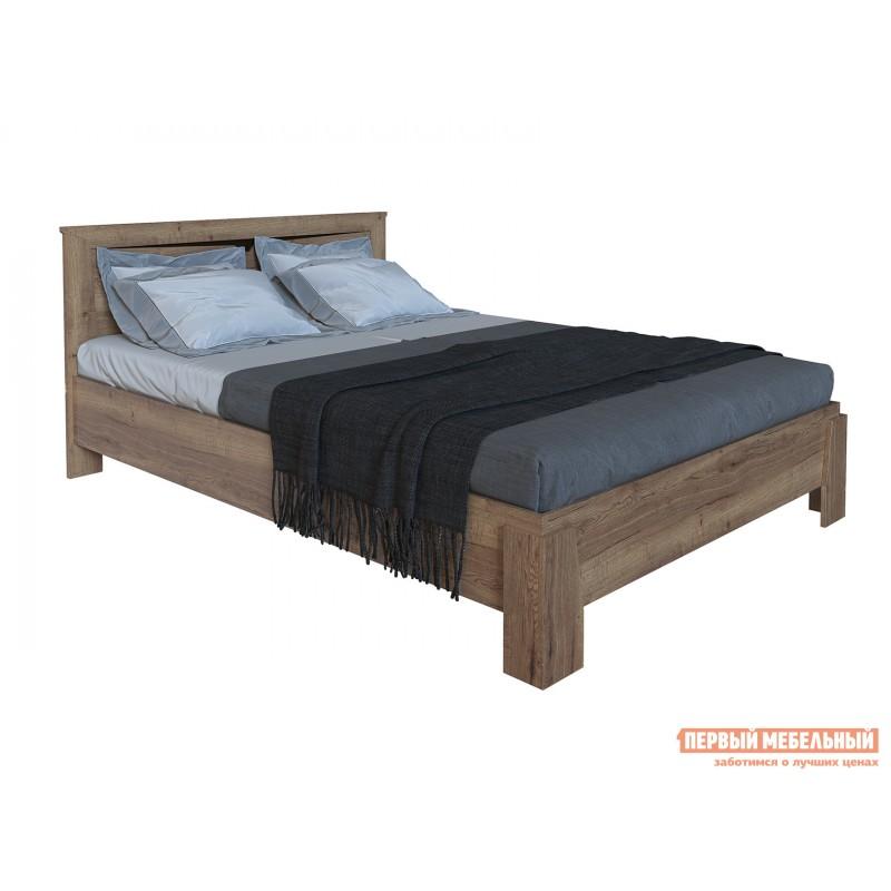 Двуспальная кровать  Кровать Гарда NEW Дуб галифакс Табак, 140х200 см, С основанием, С подъемным механизмом
