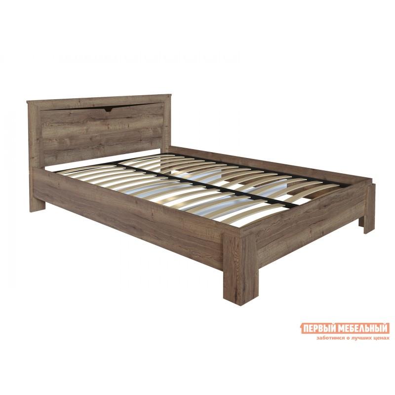 Двуспальная кровать  Кровать Гарда NEW Дуб галифакс Табак, 140х200 см, С основанием, С подъемным механизмом (фото 2)