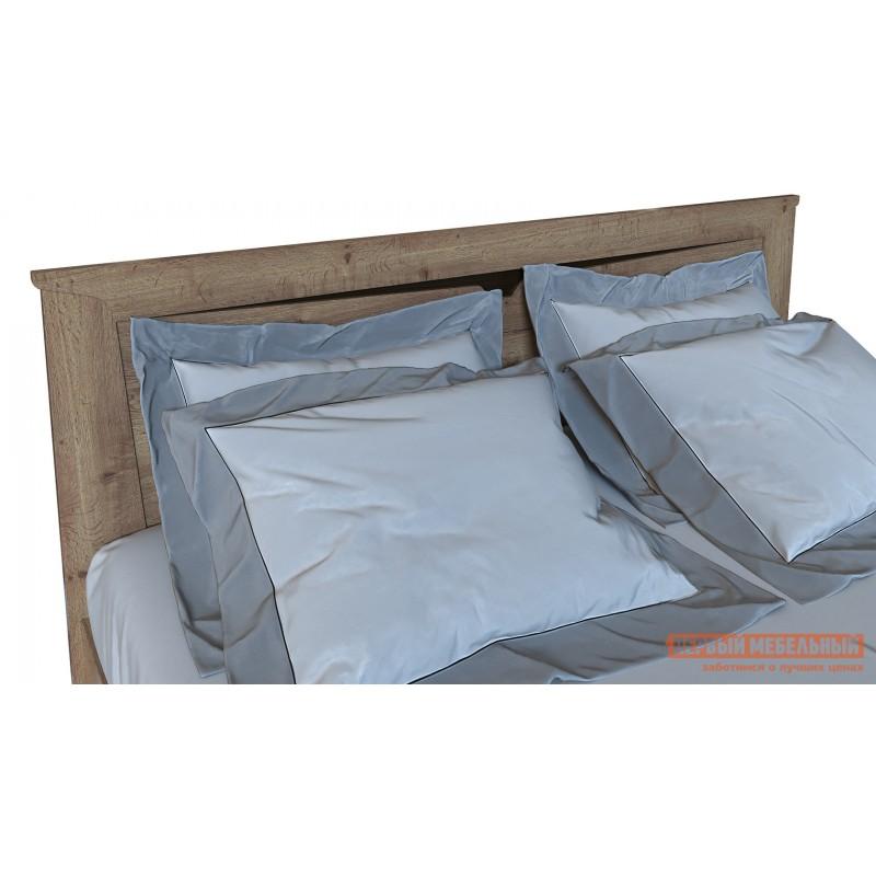 Двуспальная кровать  Кровать Гарда NEW Дуб галифакс Табак, 140х200 см, С основанием, С подъемным механизмом (фото 5)