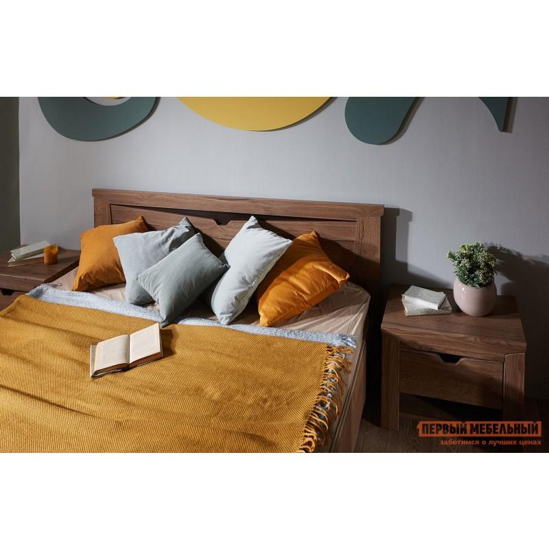 Двуспальная кровать  Кровать Гарда NEW Дуб галифакс Табак, 140х200 см, С основанием, С подъемным механизмом (фото 10)